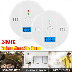 2 Andtimes Lcd Co Carbon Monoxide Gas Detector Alarm Security Tester Alert Sensitivity