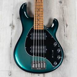 Ernie Ball Music Man Stingray 5 Special 5-string Bass, Maple, Frost Green Pearl