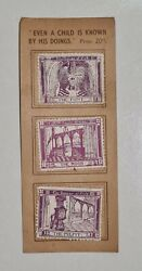 Collection On 6 Old Book Stamps - The House Of God
