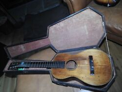 1853 James Ashborn Style 2 Guitar In Good Condition With Original Coffin Case.