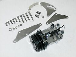 Big Block Chevy 508 Chrome A/c Air Conditioning Compressor And Ss Bracket Swp Ds