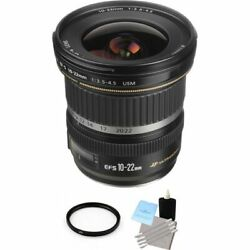 Canon Ef-s 10-22mm F/3.5-4.5 Usm Lens + Uv Filter And Cleaning Kit