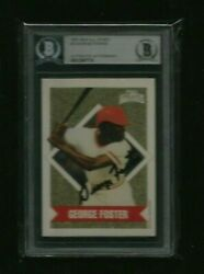 George Foster 1991 Muscular Dystrophy All-stars Auto Bas Authentic 2x Champion