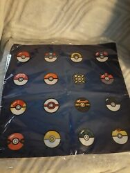 🌟 Geek Gear Exclusive Pokemon Balls 16 Pillow Case Brand New Sealed O5