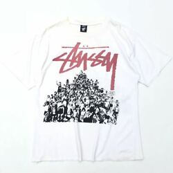 Vintage 1980and039s Stussy Beach Mob Short Sleeve Menand039s T-shirt Size S White
