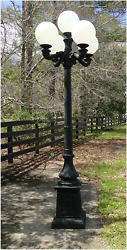 Outdoor 5 Arm Pole Light Victorian Replica Vintage Commercial Or Home Classic 9.