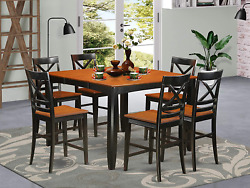 9 Pc Counter Height Dining Set - Kitchen Table And 8 Bar Stools.