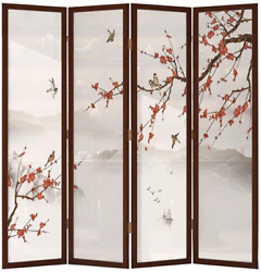 Even Room Partition Furniture Wallprivacychinese Solid Wood Screen Partitionl