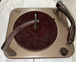 Vintage Vm Record Player Parts-removed Player From Console
