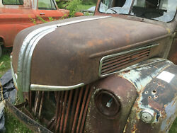 1941 Ford Pickup Truck Hood With Latchand Staineless Trim 3/4 And 1 Ton Ratrod Look