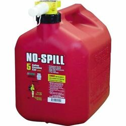 Red Sz 13.75 X 10 X 15 No-spill Gasoline Fuel Gas Can - 5 Gallon 13.75 X 10
