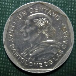 Guatemala Republic 1999 One Centavo 1 Cent Coin Low Shipping