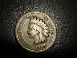 Indian Head Cent 1859 Veriety One Rare Coin