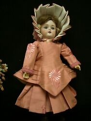 D50 - Silk Doll Dress And Jacket And More For 15 French And German Dolls Andndash Bru Style