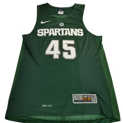 Michigan State Spartans 45 Jersey Nike Elite Basketball Msu Ghost Mens Small