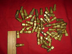 61 New Old Stock 1/4 Compression Fitting Coupler Tubing Union Adaptor 1/8 Npt