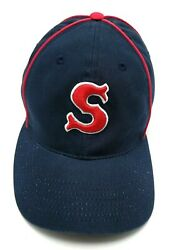 Boston Red Sox Hat Fitted Blue Cap - Size L / Xl