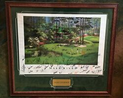 Martin Lawrence Limited Edition 1989 Print Golf Course 60+ Autographs Legends
