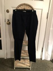 Kate And Sam Navy Blue Womens Cotton Blend Tight Ankle Size PS $7.25