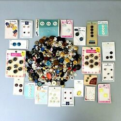 Large Lot Buttons Loose And Carded 2 Lbs Vintage Metal Pearl Plastic More