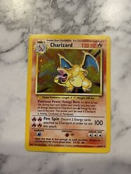 Charizard Base Set 4/102 Holo Rare Original Pokemon Card In Excellent Condition