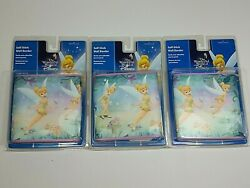 Lot Of 3 Disney Tinkerbell Pre-pasted Wall Border Self-stick And Removable 5x15and039