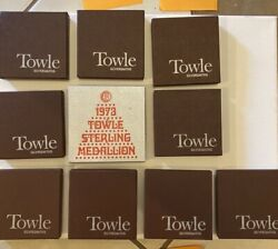 Towle Sterling Silver 12 Days Of Christmas Charm Medallion Lot Of 10 19711982