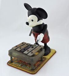 Walt Disney 1950's Musical Mickey Mouse Xylophone Marxs Toys Wind-up