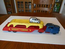 Vintage 1940s Wyandotte Car-a-van Lines Automobile Transport W/ramp And Car Used