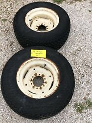 Allis Chalmers 616 Power Max Tractor Rear Wheels Rims And Tires 29x12-15