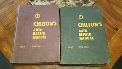 Chiltons Auto Repair Manuals 1961 And 1962 Hardcover 32nd 33rd Year Decent Shape