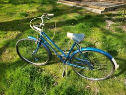 Vintage Dunelt Bicycle Rare 3 Speed 26 Inch Ladies Made In England