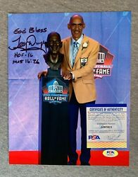 Colts- Tony Dungy Signed 8x10 Hall Of Fame Induction Day Photo Psa/dna Ai97921