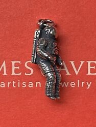 New In Box 3d James Avery Sterling Silver Detailed Nasa Astronaut Charm