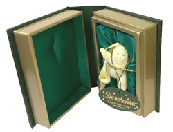 Dept 56 Snowbabies Hold That Pose In Deluxe Book Case Xmas Ornament Nib Tags