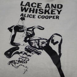 Vintage 1970 Alice Cooper Cd Release Tee Shirt Mens L Size White Print