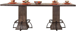 Hillsdale Jennings 36 Counter Height Dining Table In Distressed Walnut