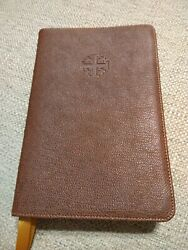 Nasb Schuyler Bible Personal Size Brown Marble Goatskin Leather
