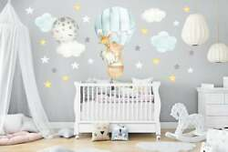 Cute Hot Air Balloon Wall Decals Baby Room Decals Kids Room Decor Flying