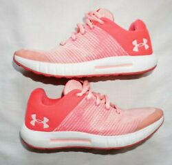 Youth Girls Pink Under Armour Athletic Sneakers Shoes 3021886-600 Sz 4y
