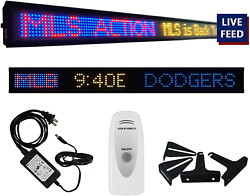 Tickercom Game Day Sports Ticker 59-69-79 Inch Led Sign Live Content, Display Sp