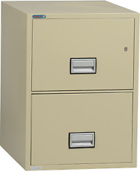 Phoenix Vertical 31 Inch 2-drawer Legal Fireproof File Cabinet With Water Seal