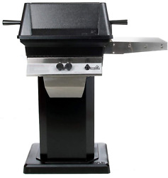 Pgs A30 Cast Aluminum Natural Gas Grill On Black Patio Base
