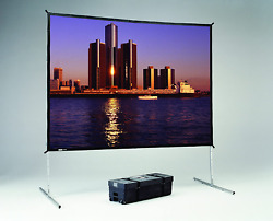 Da-lite Fast-fold Deluxe Complete Portable Projection Screens System Dual Vision