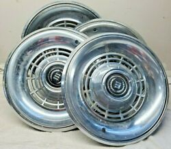 1977 To 1979 Ford Ltd Ii Cougar 14 Inch Hubcaps Wheel Cover Oem Ford, Qty4