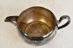 Antique Gotham Silver On Copper Creamer Dish With Handle And Curved Base