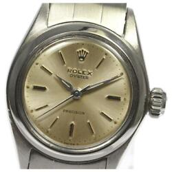 Rolex Oyster Precision Ref.6410 Manual Ladies Silver Dial Ss From Japan [e0512]