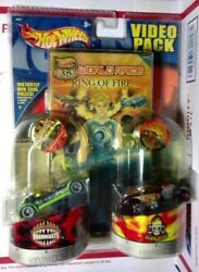 Hot Wheels Video Pack Word Race Ring Of Fire/ Road Beasts/scorchers Vehicles