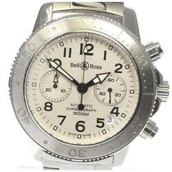 Bell And Ross Chronograph Date Automatic Men's Silver Dial Ss From Japan [e0512]