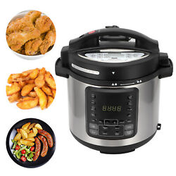 6l Electric Air Fryer Pressure Cooker With Temperature Control Dual Touchscreen